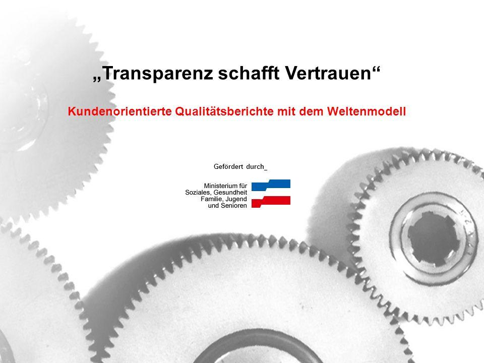 """""""Transparenz schafft Vertrauen"""