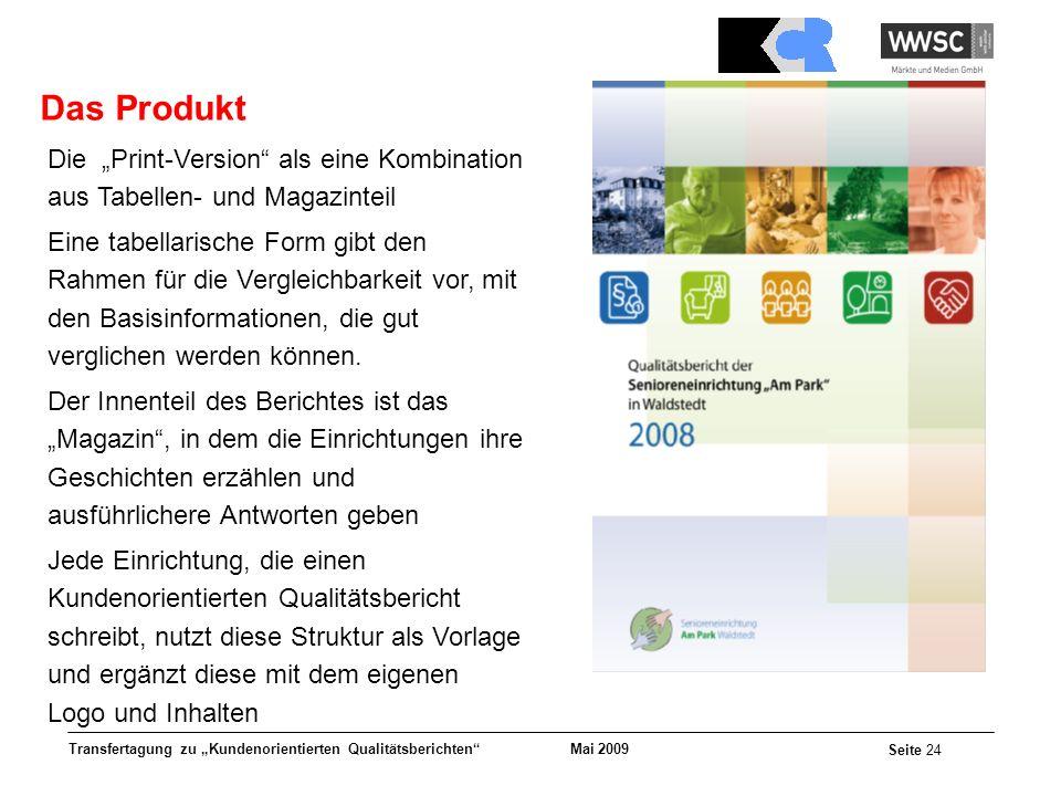"""Das Produkt Die """"Print-Version als eine Kombination aus Tabellen- und Magazinteil."""