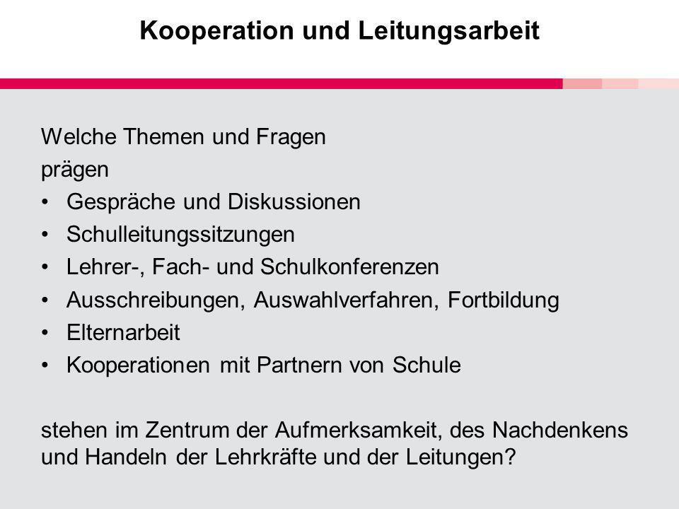 Kooperation und Leitungsarbeit