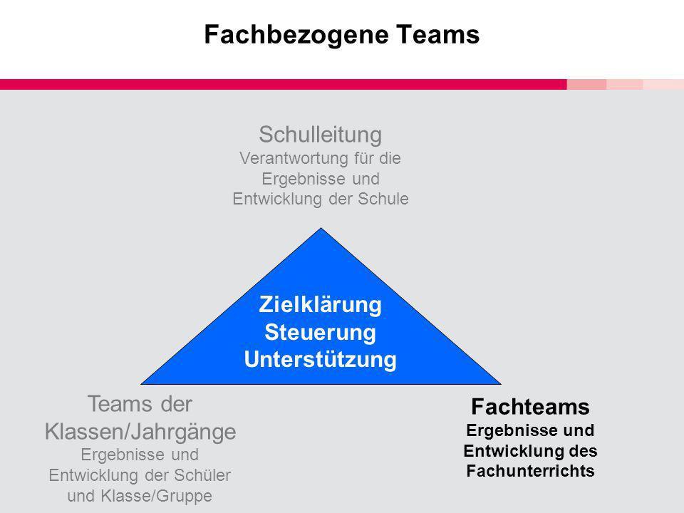 Fachteams Ergebnisse und Entwicklung des Fachunterrichts