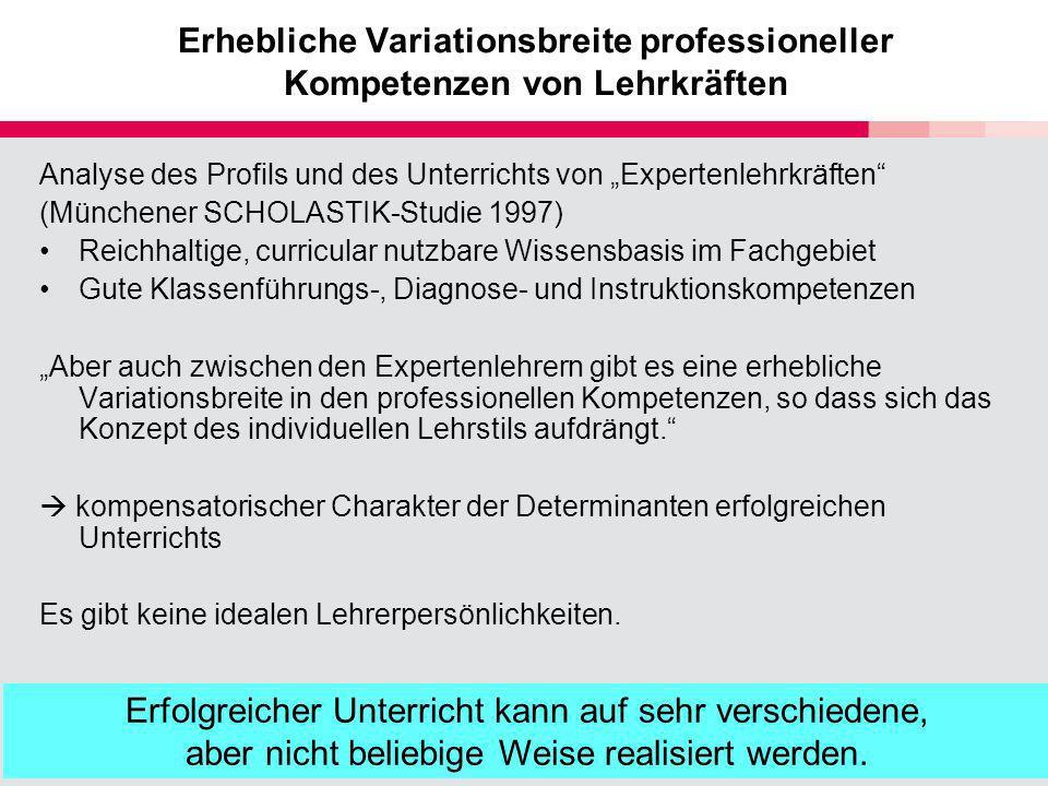 Erhebliche Variationsbreite professioneller Kompetenzen von Lehrkräften