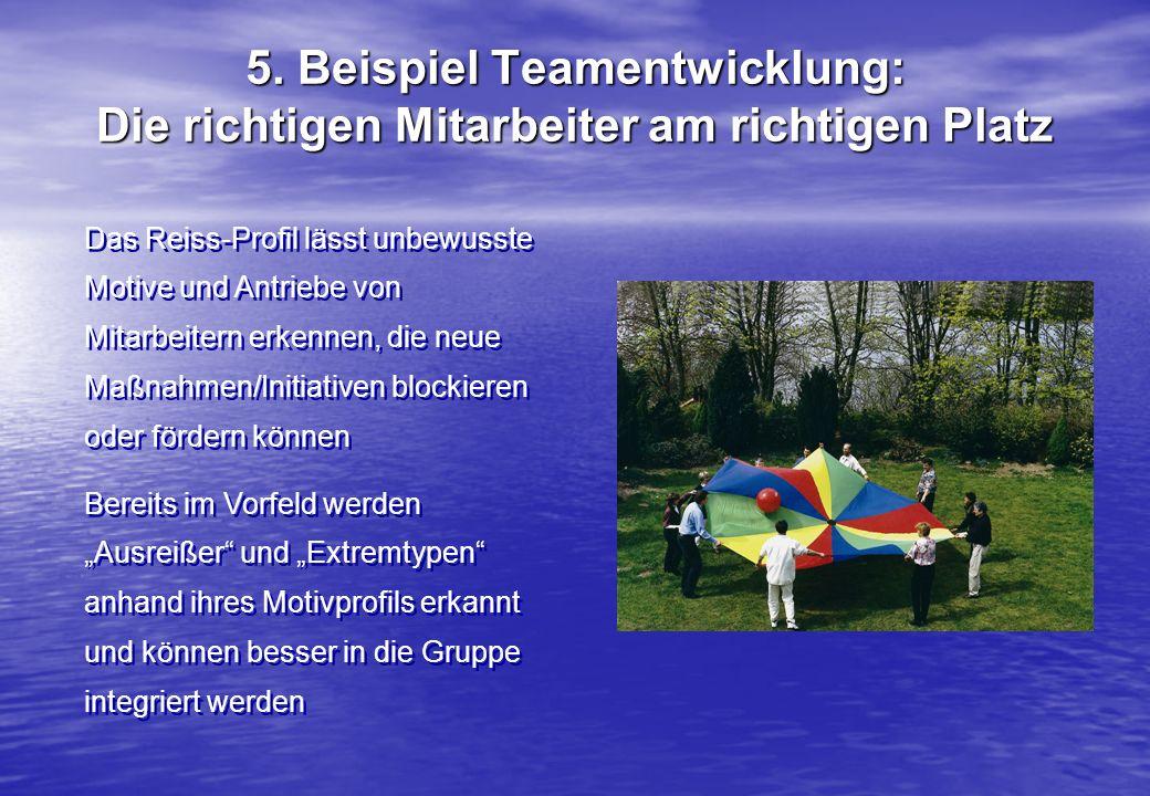 5. Beispiel Teamentwicklung: Die richtigen Mitarbeiter am richtigen Platz
