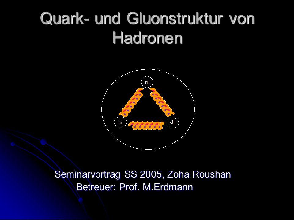 Quark- und Gluonstruktur von Hadronen