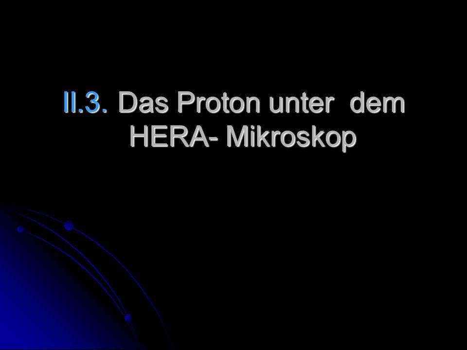 II.3. Das Proton unter dem HERA- Mikroskop