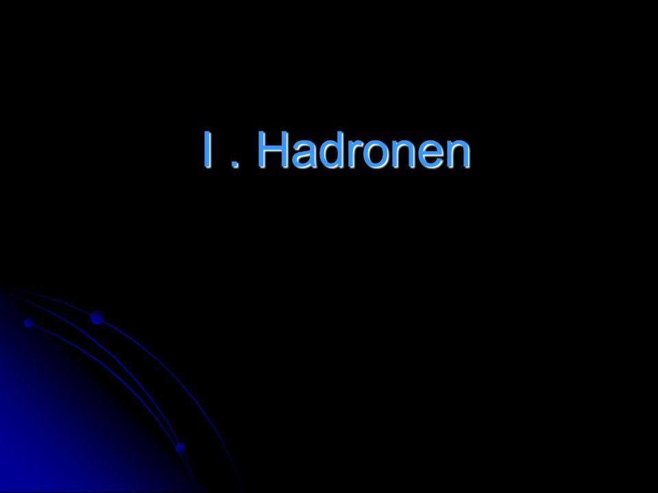 I . Hadronen