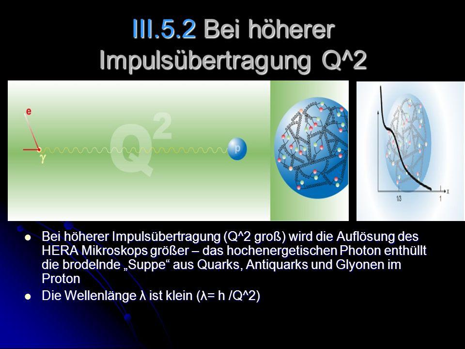 III.5.2 Bei höherer Impulsübertragung Q^2