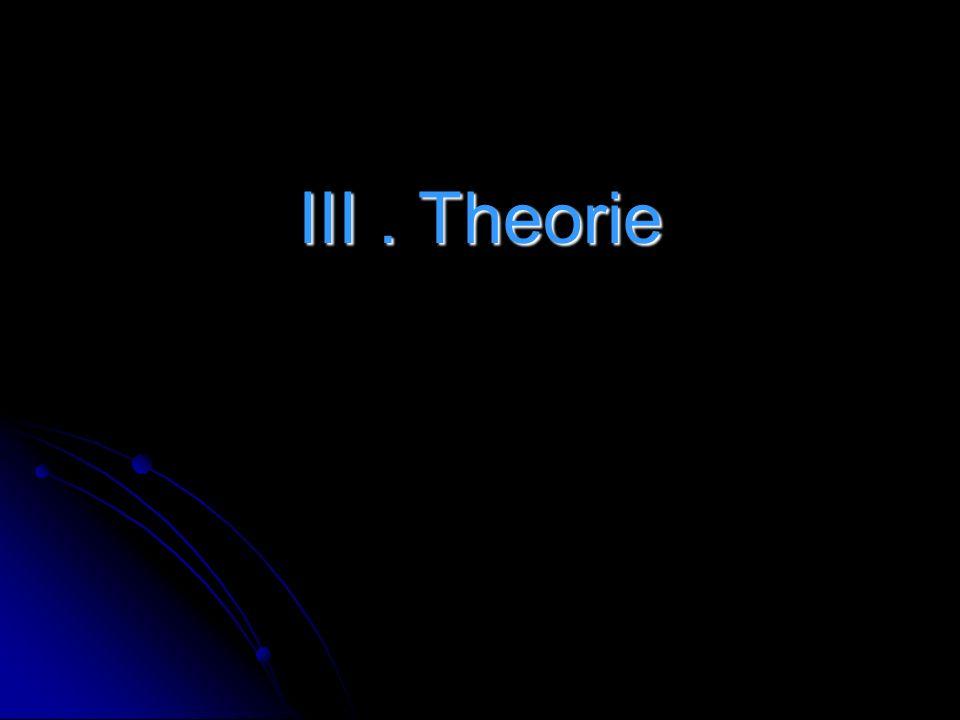 III . Theorie