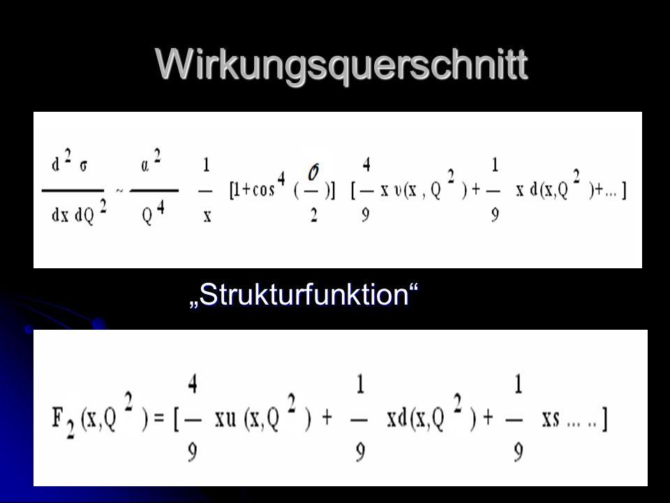 """Wirkungsquerschnitt """"Strukturfunktion"""