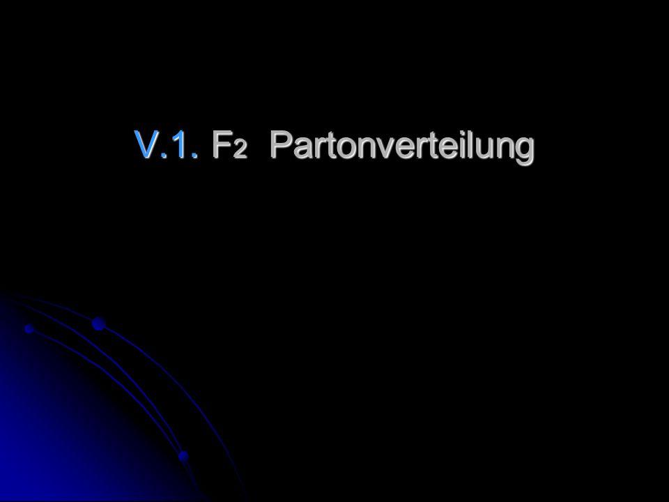 V.1. F2 Partonverteilung