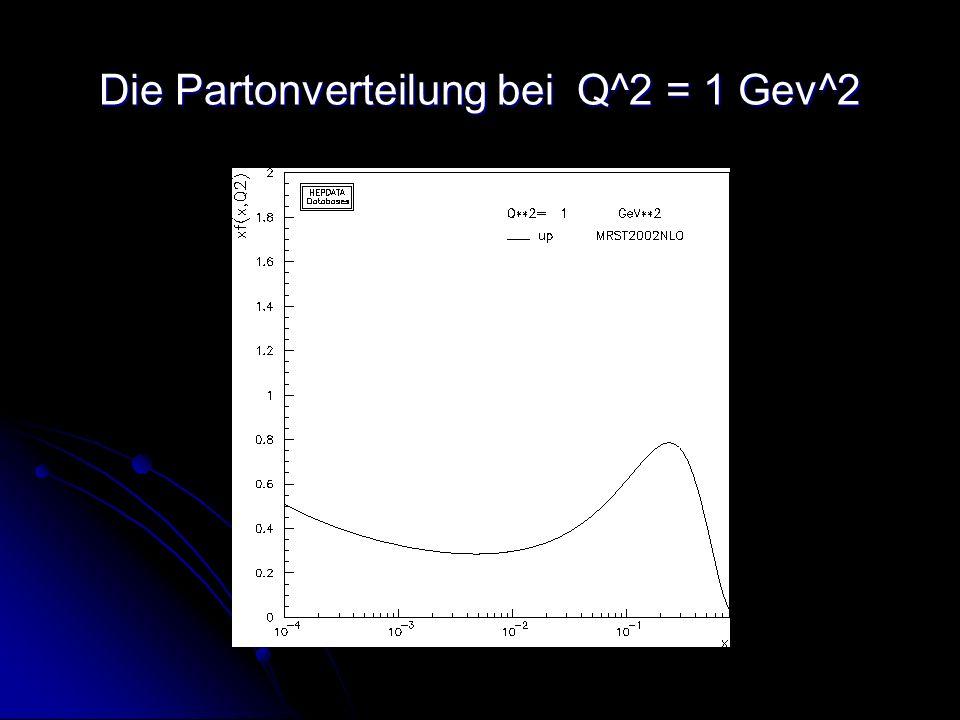 Die Partonverteilung bei Q^2 = 1 Gev^2