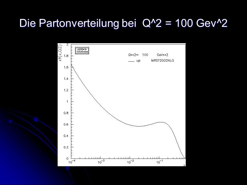 Die Partonverteilung bei Q^2 = 100 Gev^2