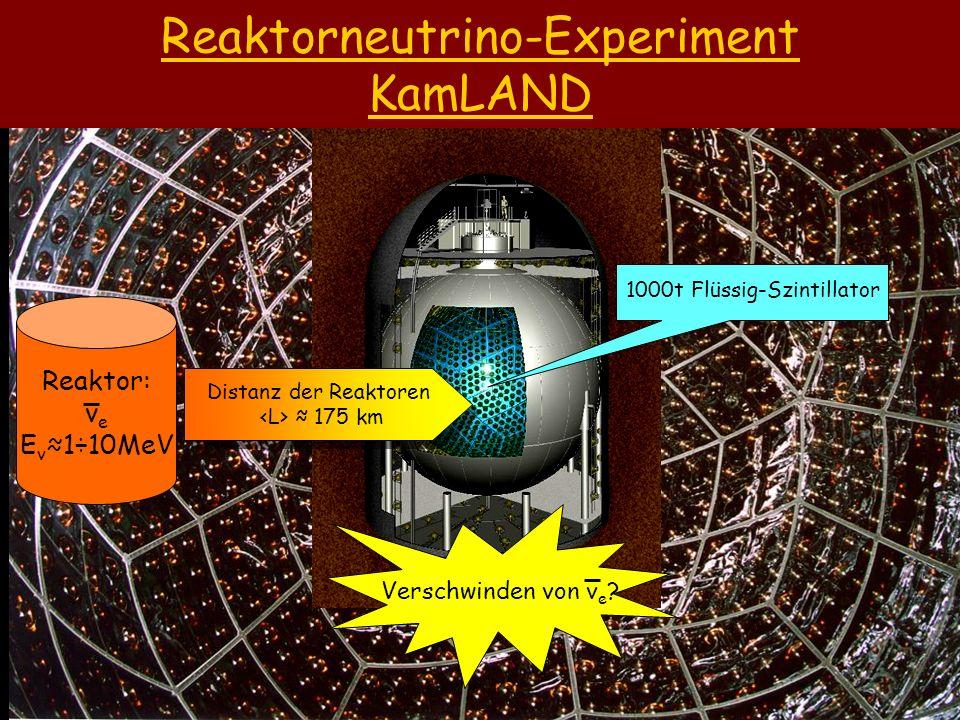 Reaktorneutrino-Experiment KamLAND