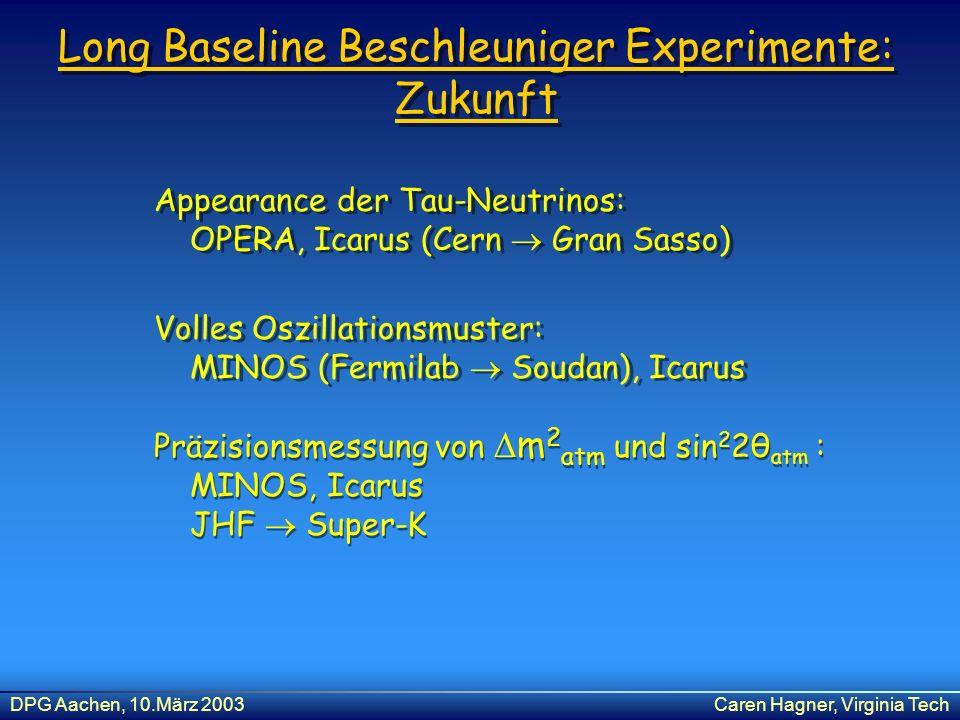 Long Baseline Beschleuniger Experimente: Zukunft