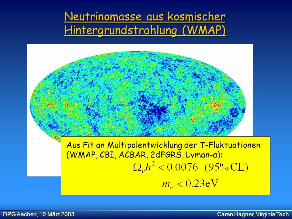Neutrinomasse aus kosmischer Hintergrundstrahlung (WMAP)