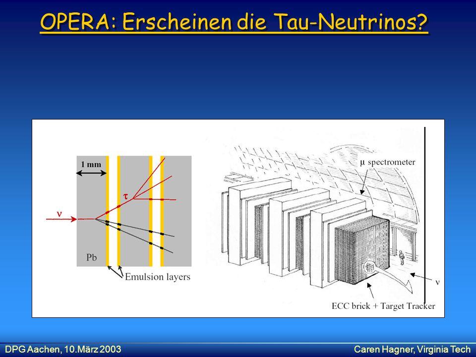 OPERA: Erscheinen die Tau-Neutrinos