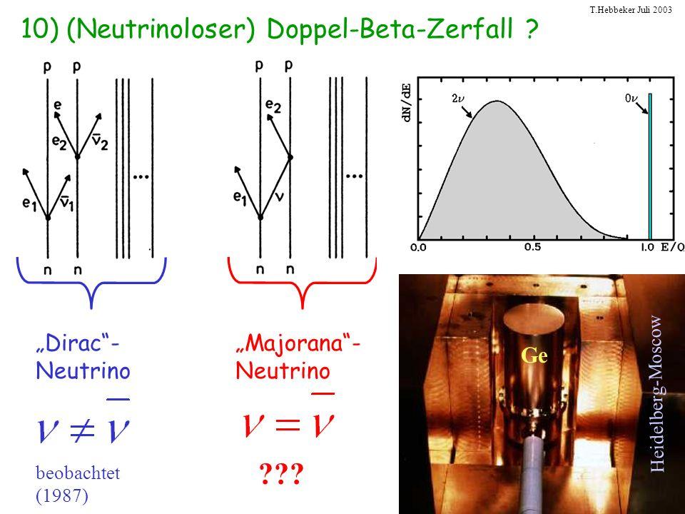 10) (Neutrinoloser) Doppel-Beta-Zerfall