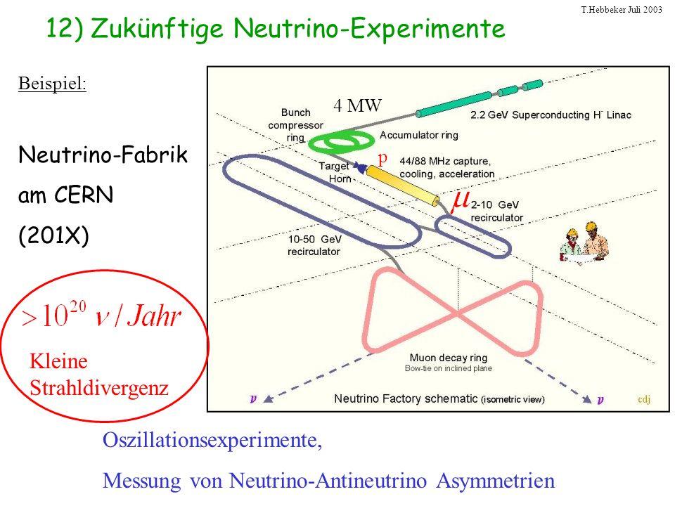 12) Zukünftige Neutrino-Experimente