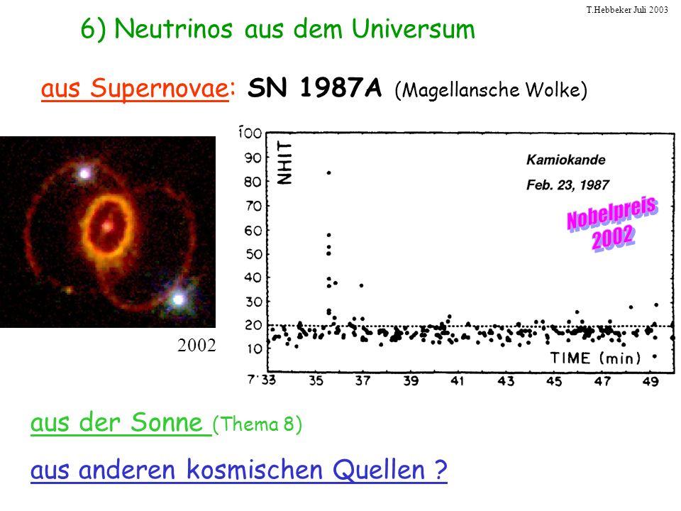 6) Neutrinos aus dem Universum