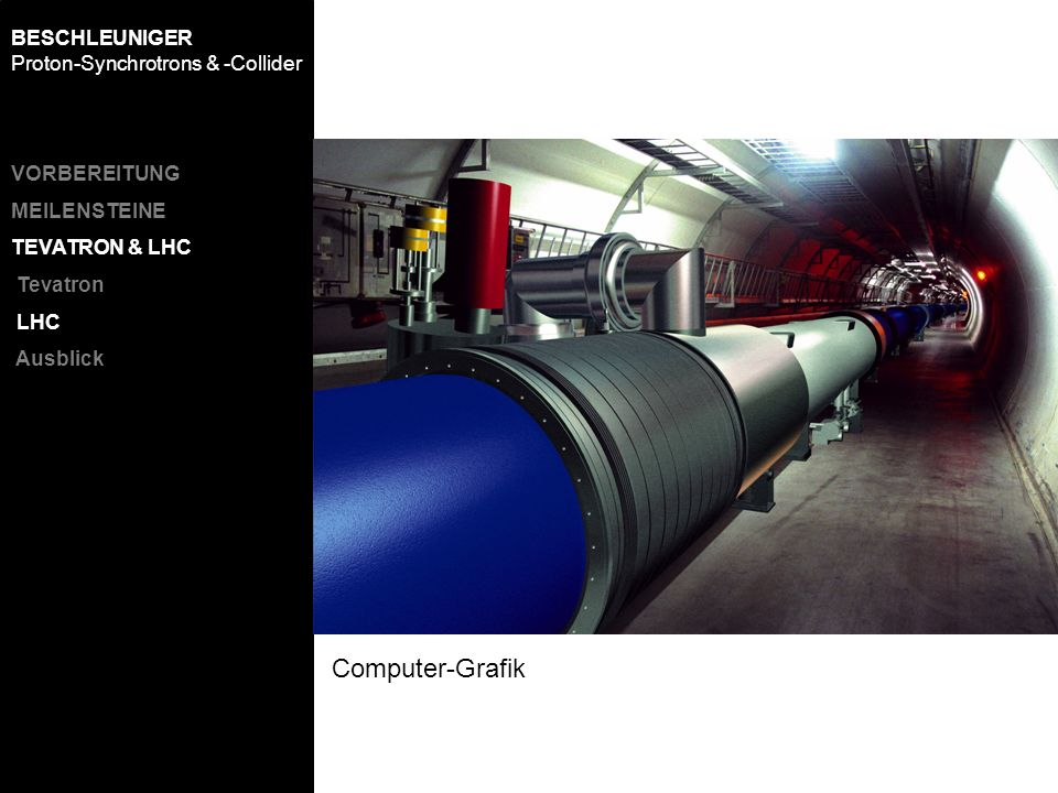 Computer-Grafik BESCHLEUNIGER Proton-Synchrotrons & -Collider