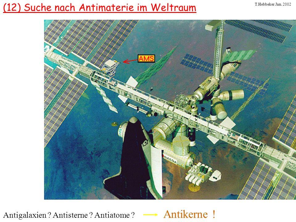 (12) Suche nach Antimaterie im Weltraum