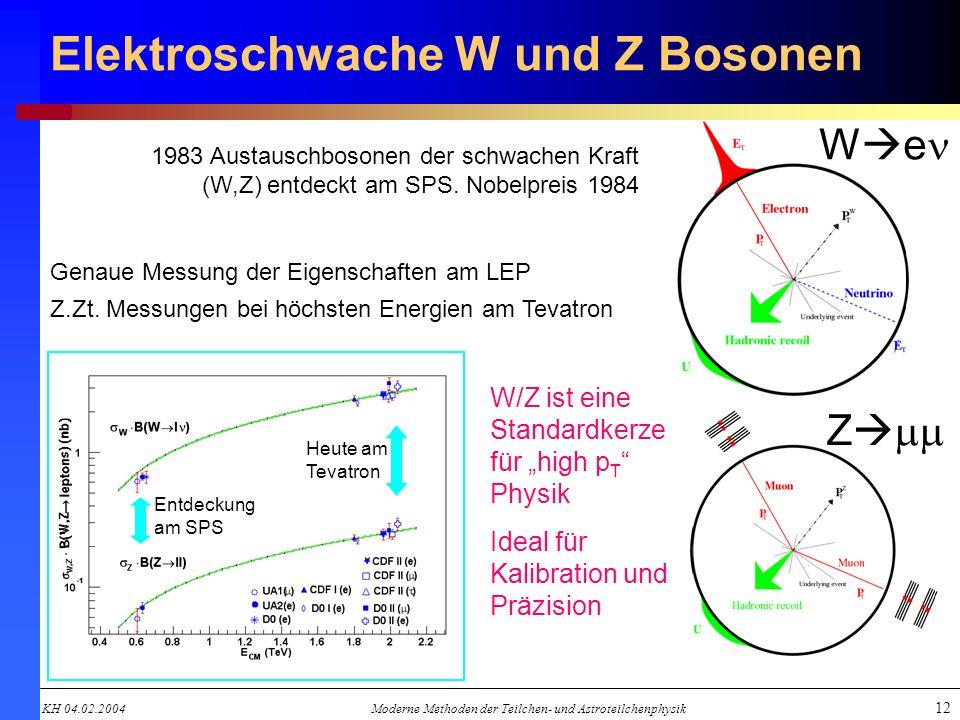 Elektroschwache W und Z Bosonen