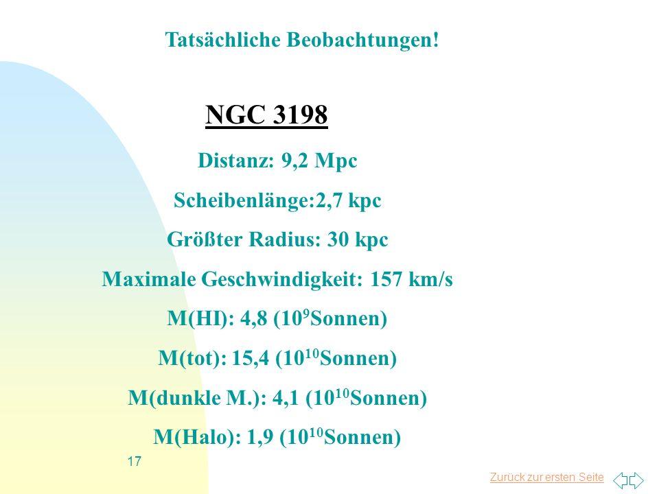 Tatsächliche Beobachtungen! Maximale Geschwindigkeit: 157 km/s