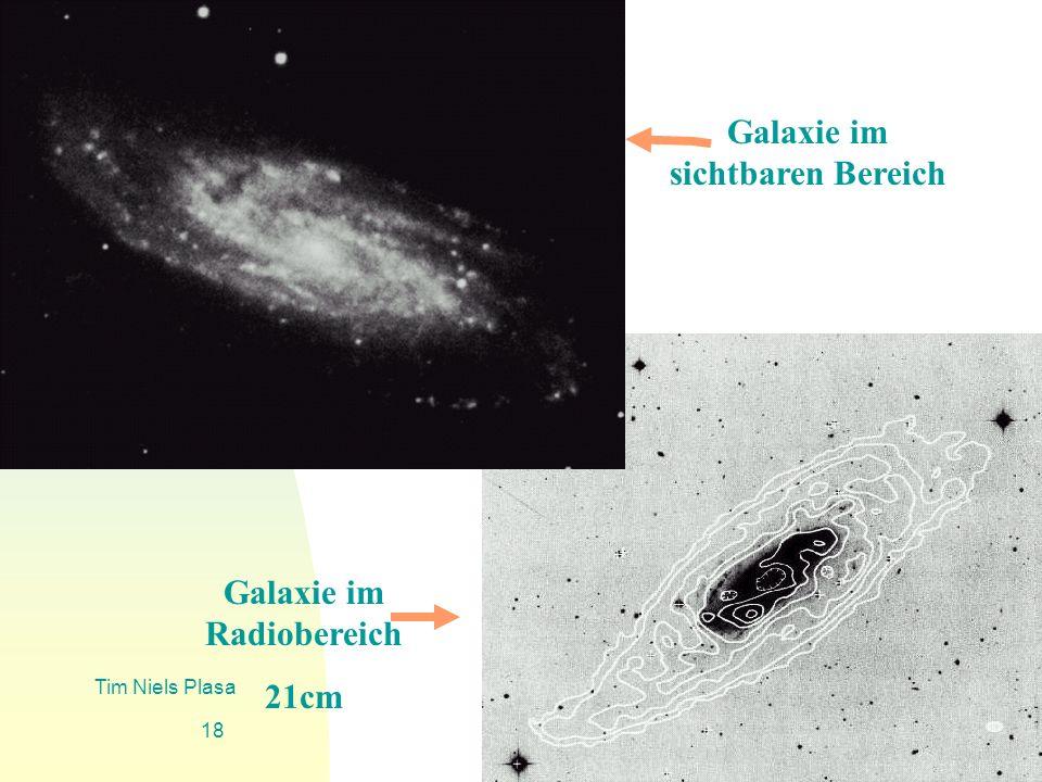 Galaxie im sichtbaren Bereich Galaxie im Radiobereich