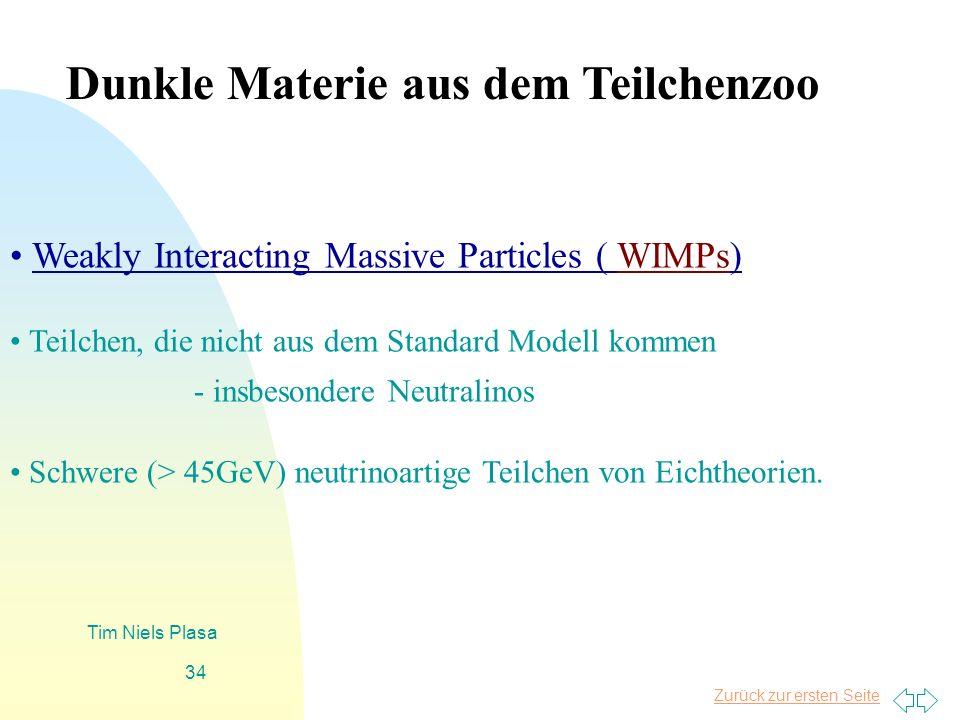 Dunkle Materie aus dem Teilchenzoo