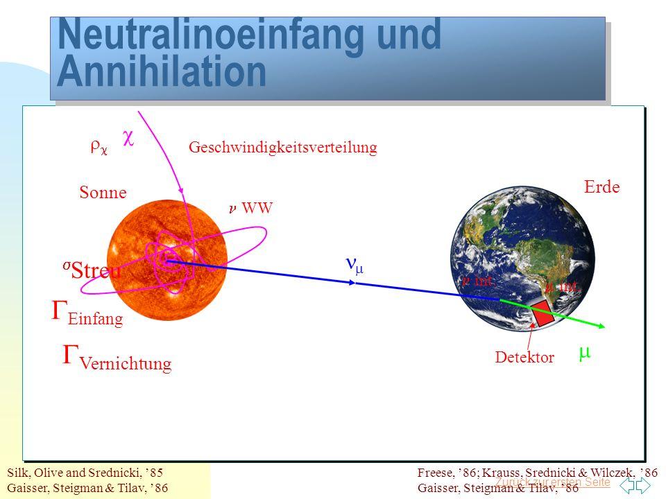 Neutralinoeinfang und Annihilation