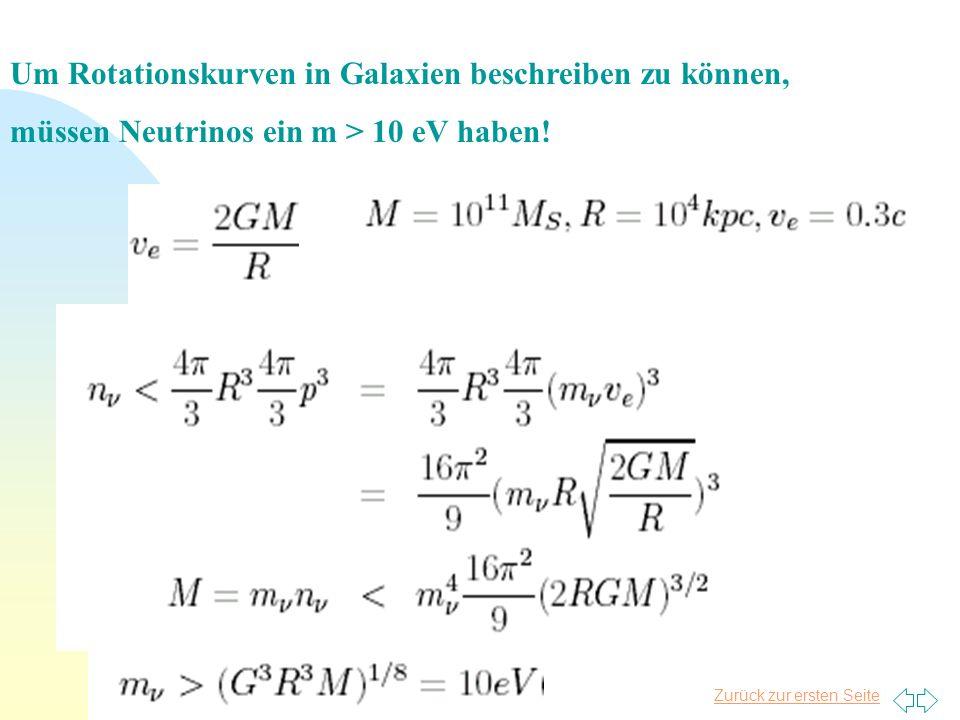 Um Rotationskurven in Galaxien beschreiben zu können,