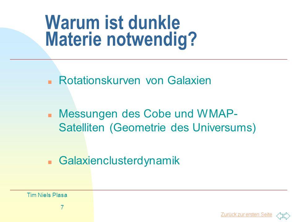 Warum ist dunkle Materie notwendig
