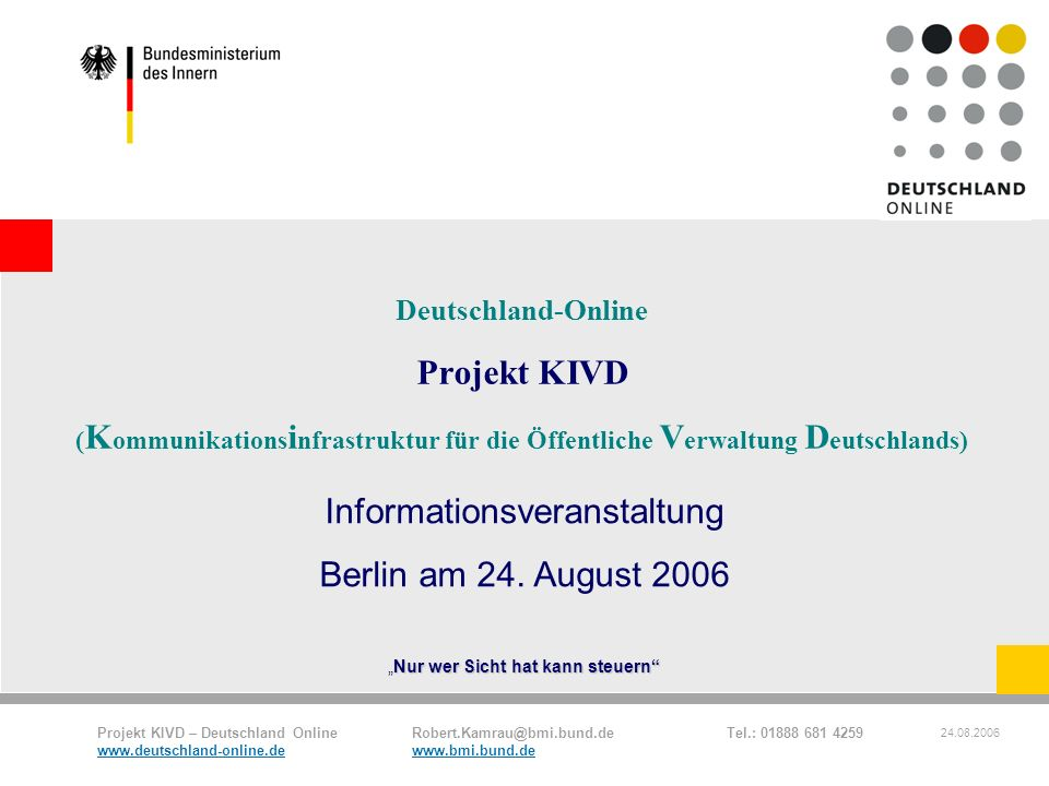 Informationsveranstaltung Berlin am 24. August 2006