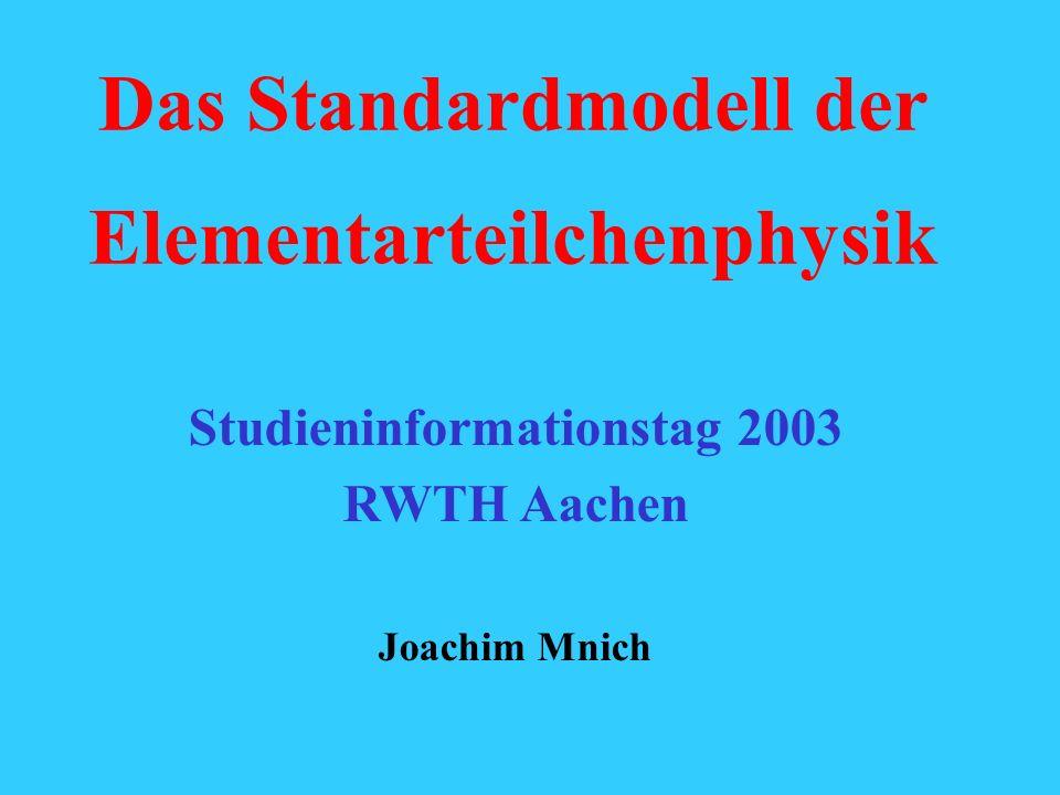 Das Standardmodell der Elementarteilchenphysik