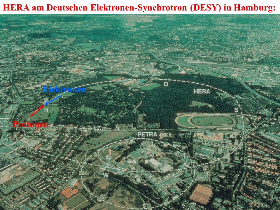 HERA am Deutschen Elektronen-Synchrotron (DESY) in Hamburg: