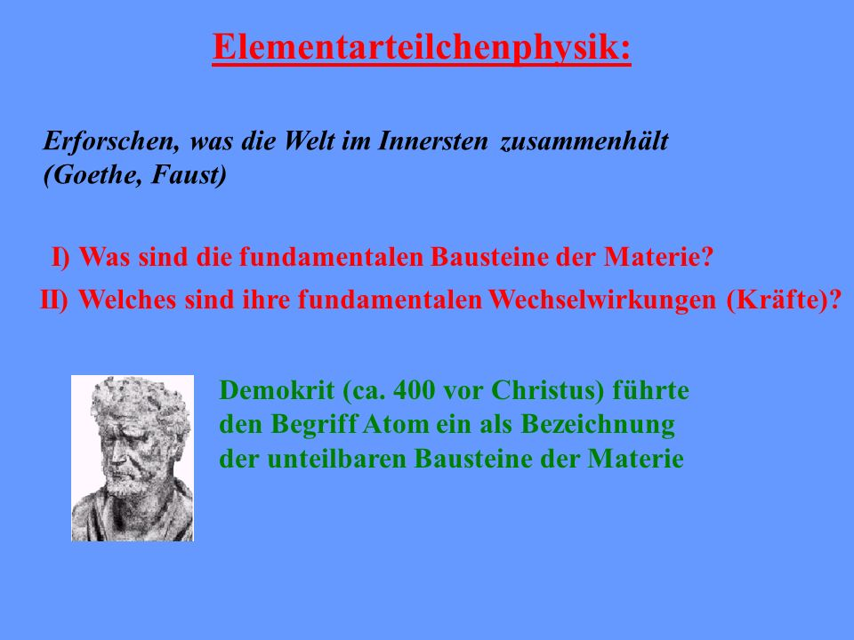 Elementarteilchenphysik: