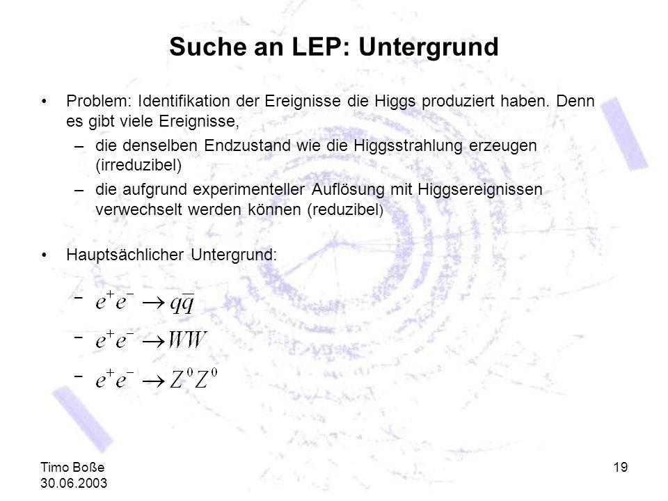 Suche an LEP: Untergrund
