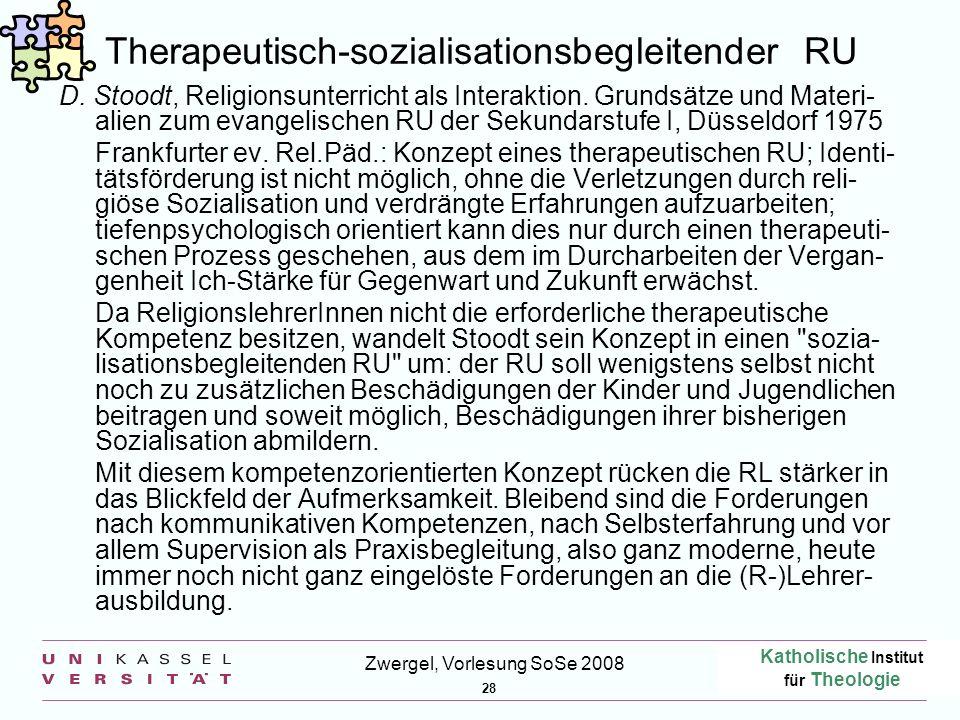 Therapeutisch-sozialisationsbegleitender RU