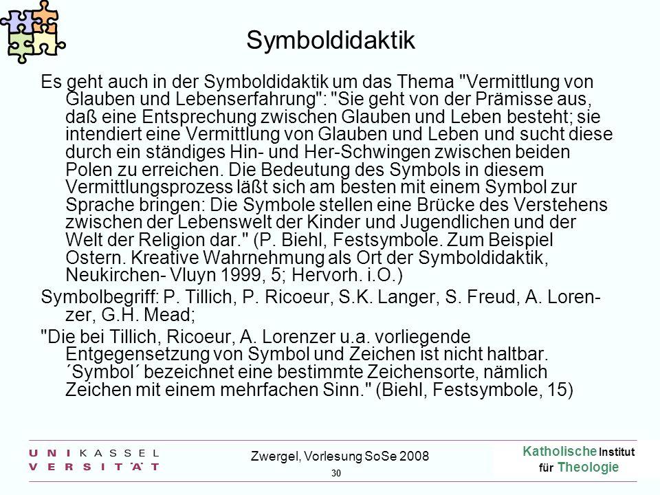 Zwergel, Vorlesung SoSe 2008