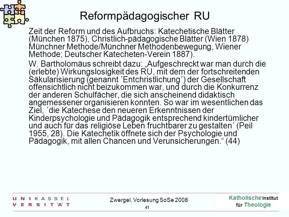 Reformpädagogischer RU