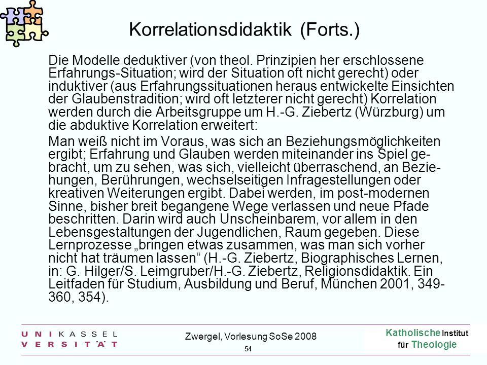 Korrelationsdidaktik (Forts.)