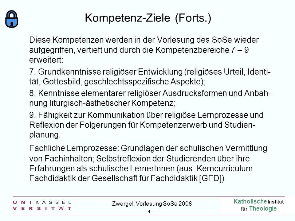 Kompetenz-Ziele (Forts.)