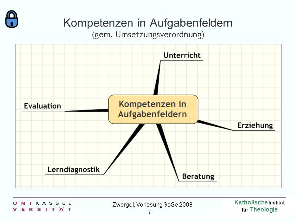 Kompetenzen in Aufgabenfeldern (gem. Umsetzungsverordnung)