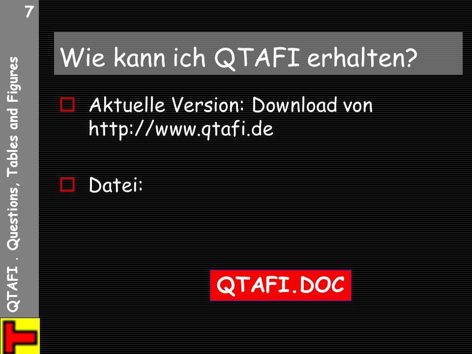 Wie kann ich QTAFI erhalten