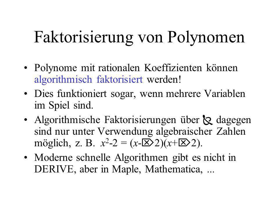 Faktorisierung von Polynomen