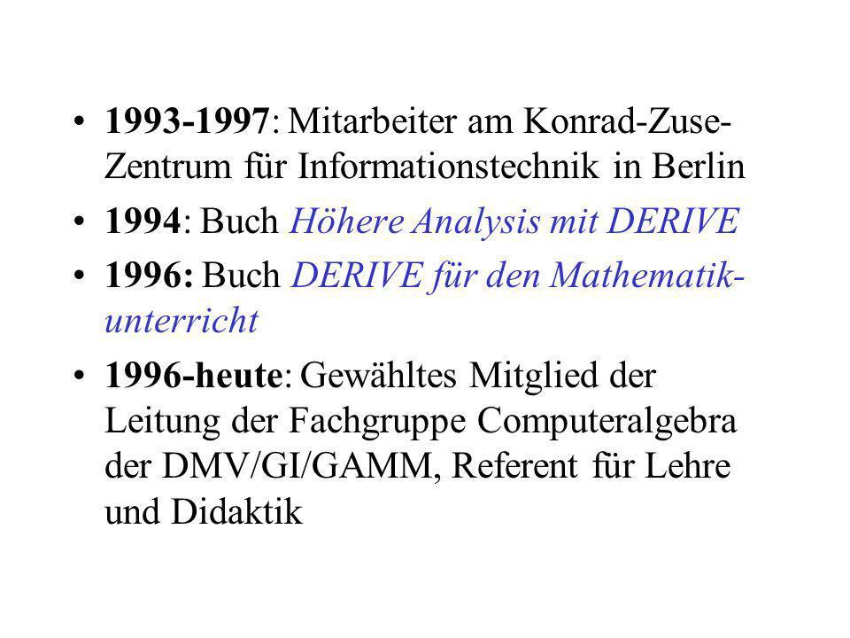 1993-1997: Mitarbeiter am Konrad-Zuse-Zentrum für Informationstechnik in Berlin