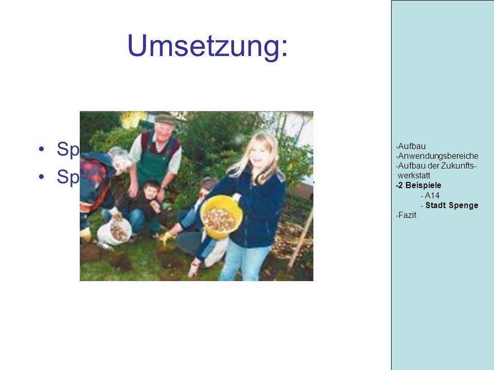 Umsetzung: Spenge blüht auf Spielplatz Schwanebecker Str. -Aufbau