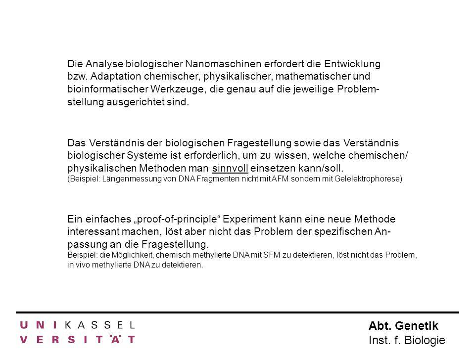 Die Analyse biologischer Nanomaschinen erfordert die Entwicklung bzw