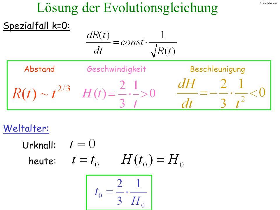 Lösung der Evolutionsgleichung