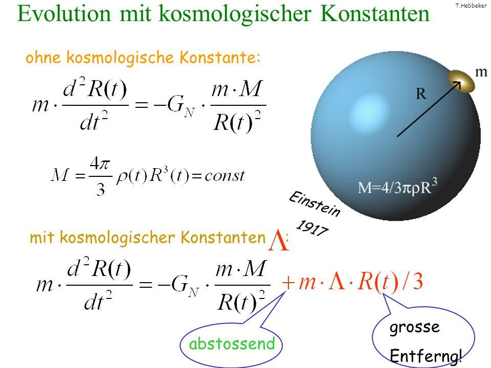 Evolution mit kosmologischer Konstanten