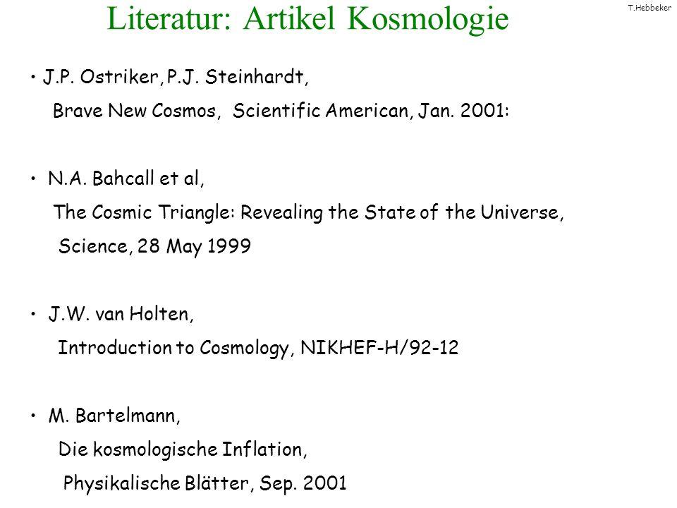 Literatur: Artikel Kosmologie